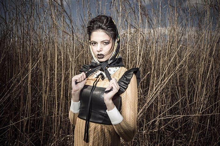 ヘアメイク メイクアップの作品撮り 外国 女性 アート ゴシック