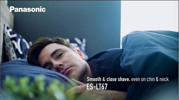 Panasonic様の広告 男性ヘアメイクアップ担当